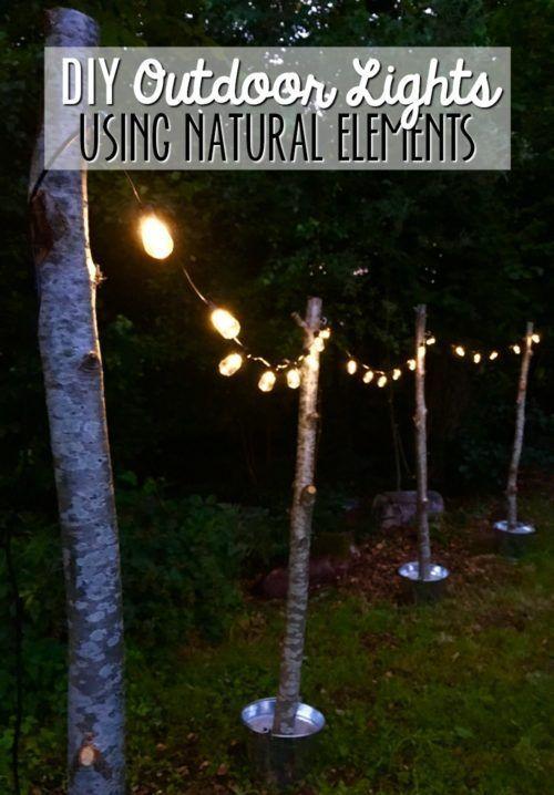 Backyard Movie Ideas Diy Outdoor Lighting Backyard Landscaping Outdoor Lighting