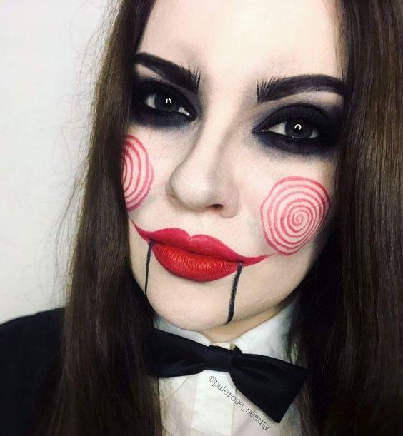 Jigsaw halloween makeup Saw, Billy the puppet #billy #Halloween #Jigsaw #Makeup #puppet
