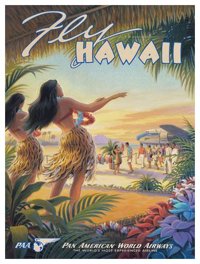 Fly to Hawaii - Fine Art Giclee Prints