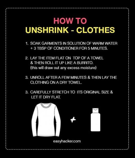 The 25  best Unshrink clothes ideas on Pinterest | DIY unshrink ...