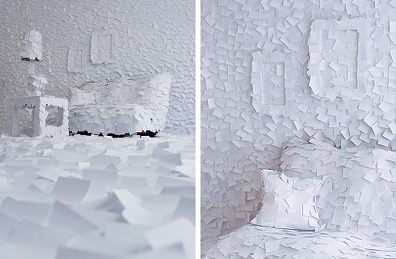 Winter Recreated Indoors with Post-It Notes