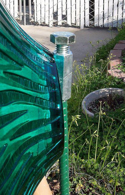 Back of Glass Flower Garden Plate
