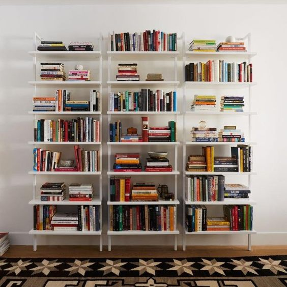Stairway White Ladder Bookcase Reviews Cb2 In 2020 Bookcase Decor Wall Bookshelves Home Libraries