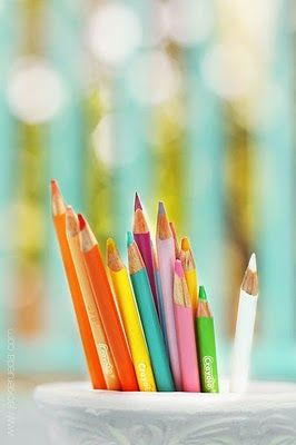 newly sharpened color pencils...