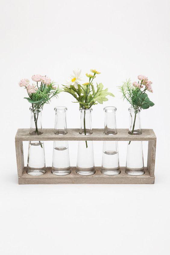 test tube florals