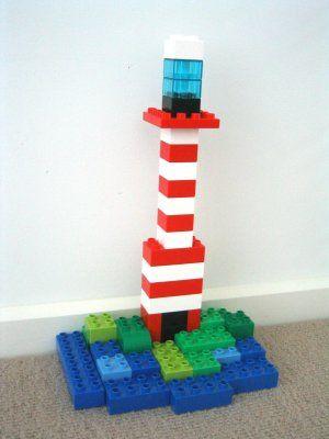 Duplo leuchtturm auf insel lego pinterest - Lego duplo ideen ...