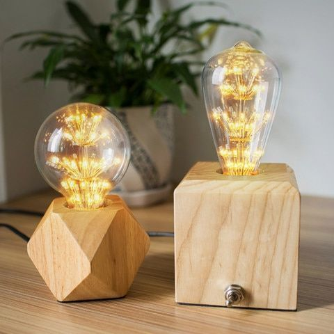 Us 21 7 30 Off Modern Table Lamp Real Wooden Base Lights Desk Night Light E27 Holder Mini Bedsi In 2020 Bedside Desk Lamps Modern Table Lamp Pendant Lighting Bedroom