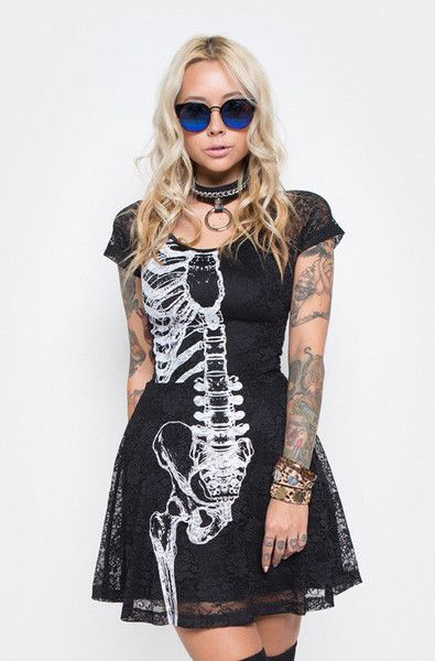 Wishbone Lace Dress