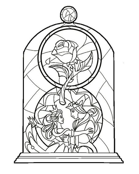 Pin By Michelle Anderson Weierbach On Svg Files Disney Stained Glass Disney Coloring Pages Coloring Pages