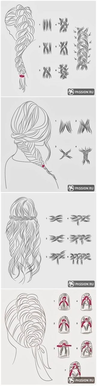 how to fishtail braid diagram - photo #23