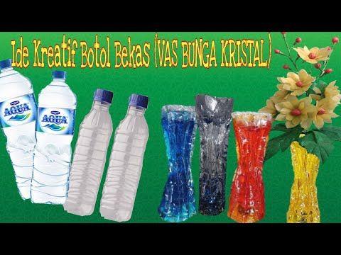 Diy Creative Idea With Plastic Bottles Ide Kreatif Vas Bunga