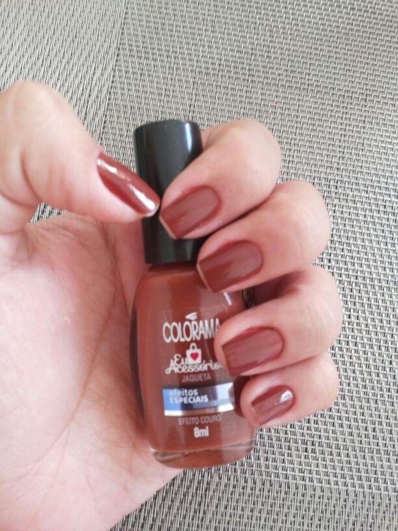 Coloroma, efeito couro, efeitos especiais,  unhas, nails