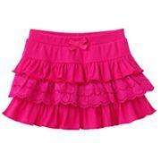 Sonoma tiered eyelet skirt