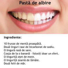 Albirea dintilor cu bicarbonat si zeama de lamaie