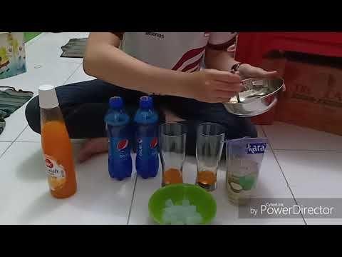 Cara Membuat Blue Ocean Drink Ala Cafe Youtube Minuman Resep Minuman Buah