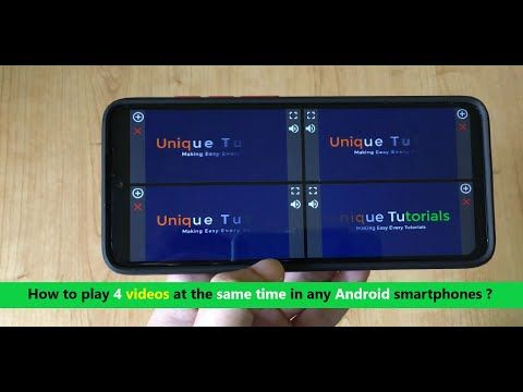 How To Play 4 Videos At The Same Time In Any Android Smartphones Youtube Smartphone Android Samsung Galaxy Phone