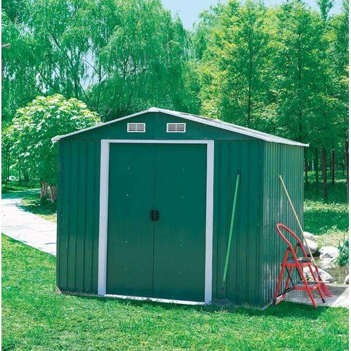 Wfx Utility 6 Ft W X 4 Ft D Apex Metal Shed Shed Storage Metal Storage Sheds Garden Storage Shed