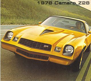 This is the epitome of the american muscle car, and I used to have one. I want it back! (1978 Chevy Camaro Z28)