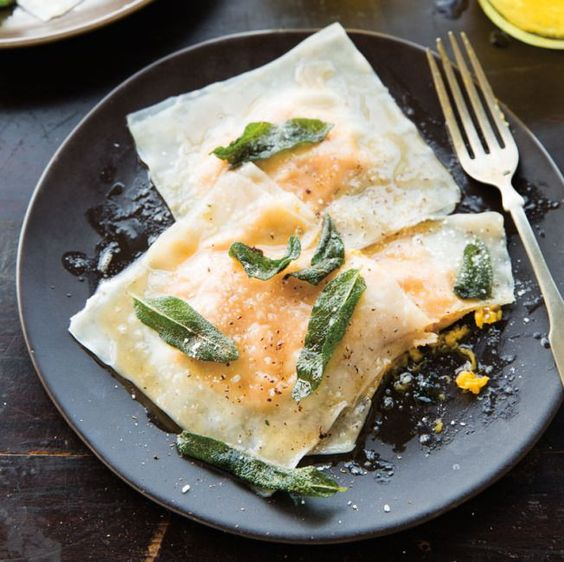 Butternut Squash Ravioli with Sage & Browned Butter
