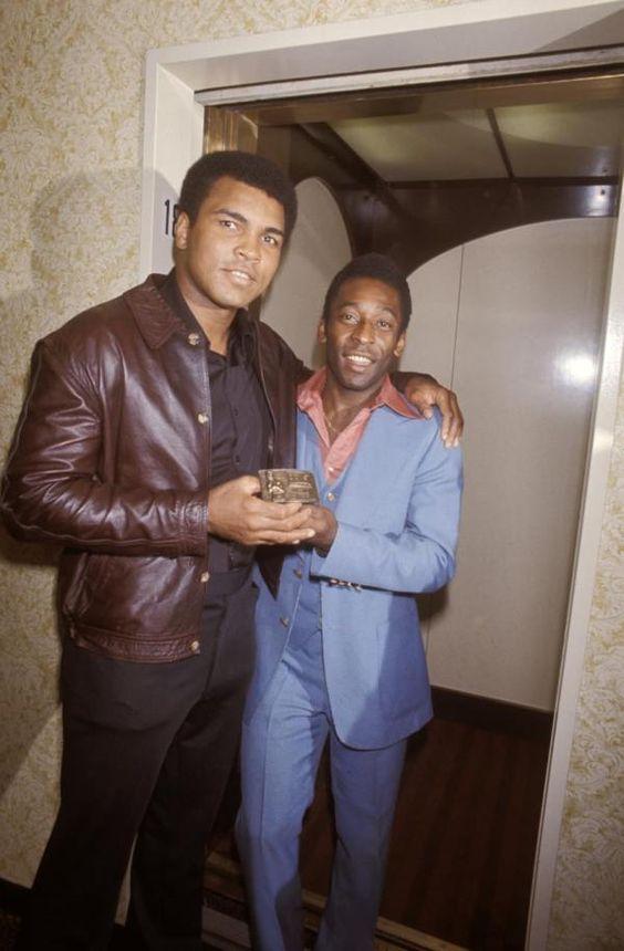 Muhammad Ali & Pele two sporting icons.