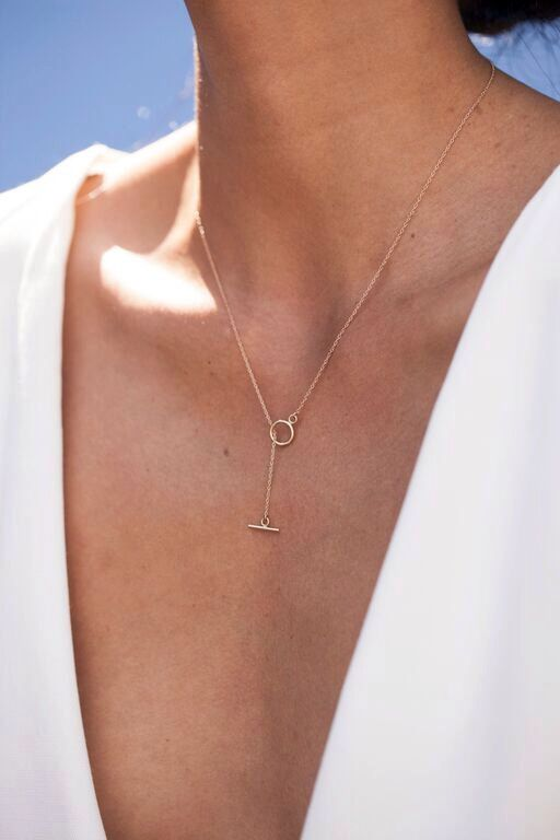 T Bar Necklace, Dainty Necklace, Layered necklace, 14 Karat t Bar Necklace. Gold fill T bar necklace by MyrrhJewelry on Etsy https://www.etsy.com/listing/236920187/t-bar-necklace-dainty-necklace-layered