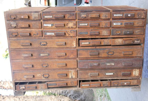 Vintage Card Catalog by laurensharon on Etsy, $1200.00