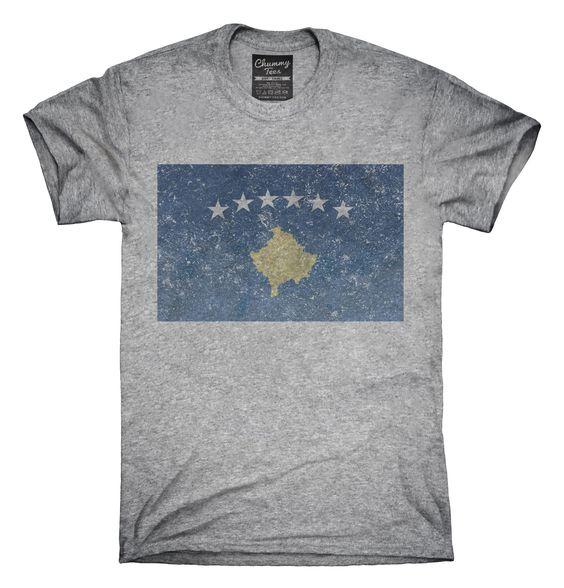 Retro Vintage Kosovo Flag T-Shirts, Hoodies, Tank Tops