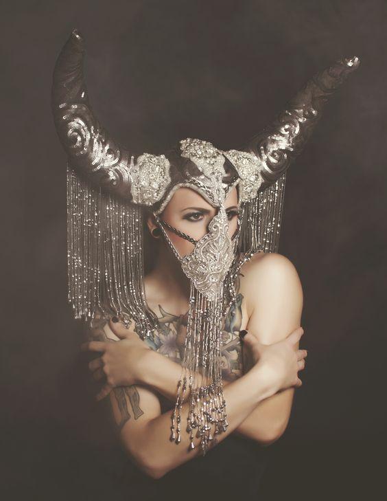 Laura Dark - Silver Lining 6 _ Photographer: Laura Dark /  Headpieces: Miss G Designs /  Makeup/Models:  Michael Pottymouth Gray.