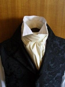 If I do not elope, I expect to have a Victorian wedding.  Cravats will be worn.