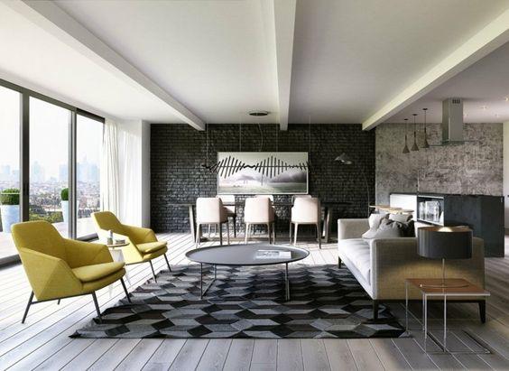 Bleu Petrole Accent Interieur Duplex ~ Id es sur le thème bois blanc ...