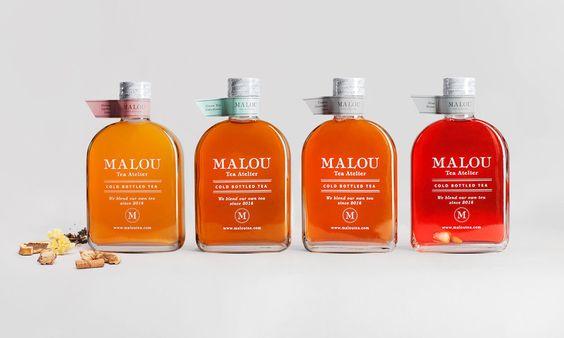 It's time for tea! Spanish agency Oronoz designed this elegant packaging   for Malou Tea Atelier.