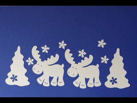 Weihnachtsbasteln Tiere Animals Basteln Mit Papier Elch Im Winterwald Filigran Youtube Basteln Mit Papier Weihnachtsbasteln Basteln Weihnachten