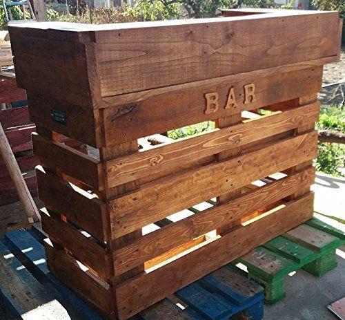 Wood Art Ely Bancone Bar Vintage 120x50x100 Completo Di Luci Led E