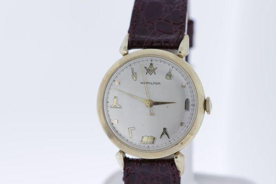 Masonic/Freemasons Hamilton 10K Goldfilled by timekeepersinclayton