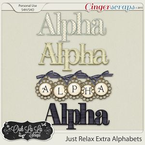 Just Relax Alphabets