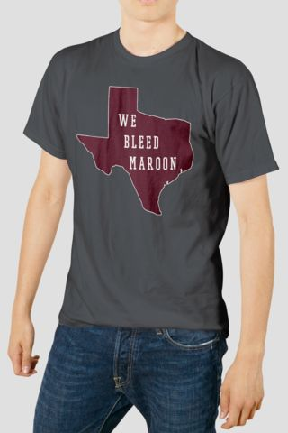 Texas A&M Solid Maroon We Bleed Maroon Men's T-Shirt