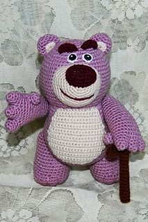 """""""First thing you gotta know about me, is I'm a hugger!"""" Lotso is an old, pink stuffed strawberry teddy bear from Toy Story."""