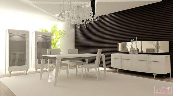 غرف سفره كامله مودرن حديثة Modern Dining Rooms قصر الديكور Classic Dining Room Dinner Room Modern Dining Room