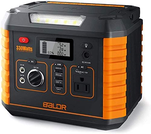 New Baldr Portable Power Station 330w 2019 Updated Portable Solar Generators Home Use Cpap Backup Battery Qc3 0 Typec Sos Flashlight Wireless Charger Outd In 2020 Portable Solar Generator Portable Power Supply Portable Power