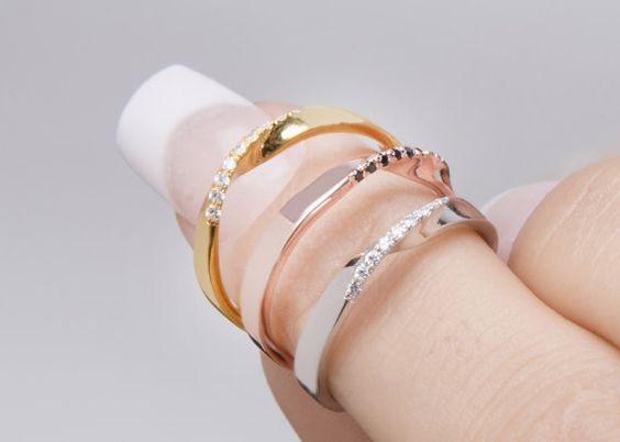 Largeur 26 mm de lAnneau Mobius bague diamant par elegantjewelbox