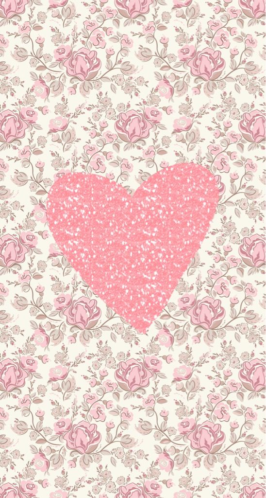 Wallpapers pink hearts and heart on pinterest - Pink roses and hearts wallpaper ...