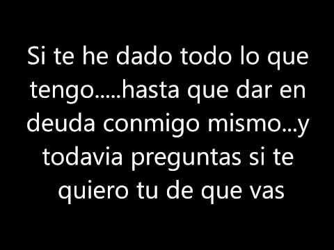 Me Dedique A Perderte Letra Alejandro Fernández Youtube Franco De Vita Letras De Canciones Canciones