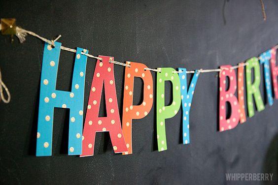 Love this Free Printable HAPPY BIRTHDAY banner
