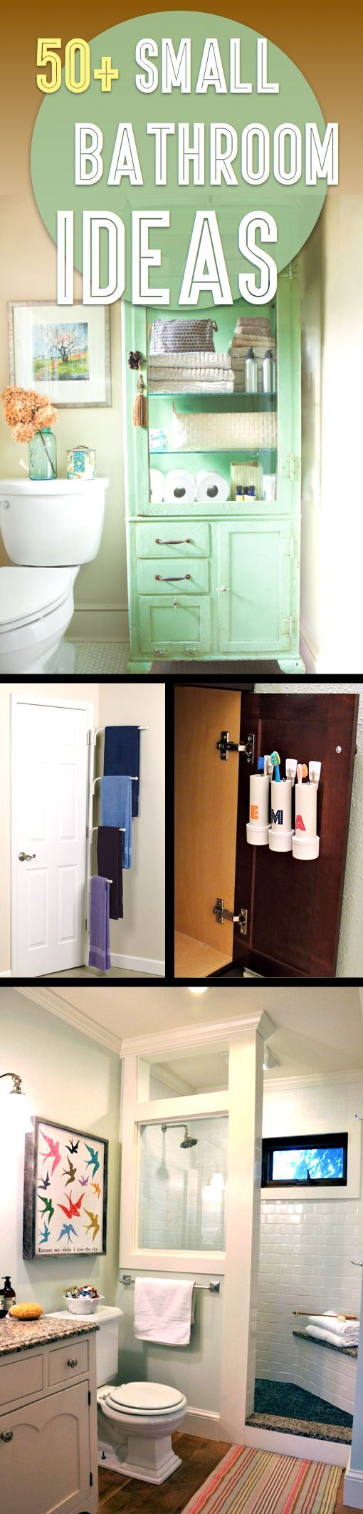 50 small bathroom ideas that you can use to maximize the available storage space if you have - Small bathroom design ideas for maximum utilization of small space ...
