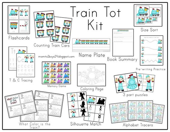 Train Parts Names : Kit includes book summery for your of choice to go