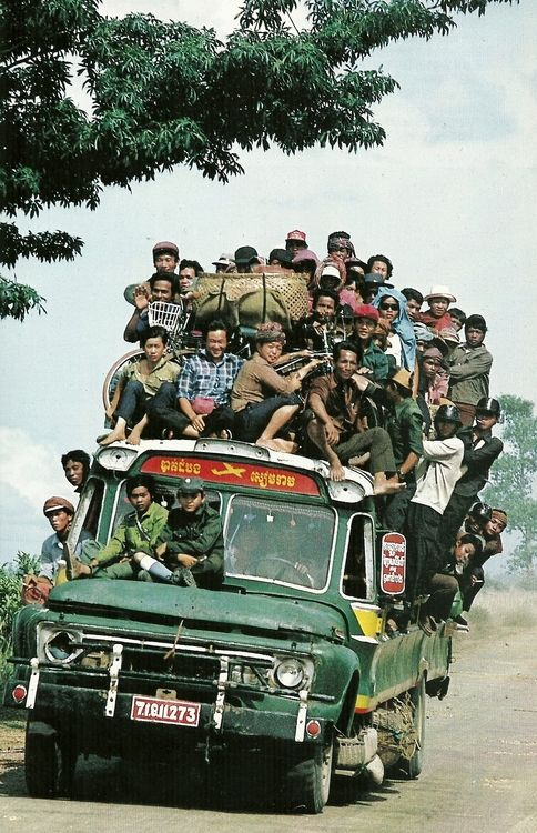 Traders in Tonle Sap, Cambodia  National Geographic 1982