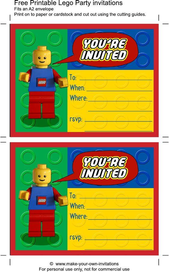 printable lego birthday invitations   scribd   party ideas, Invitation templates