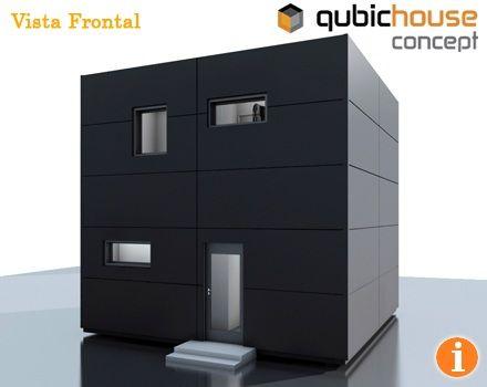 Casa minimalista y economica en forma de cubo fachadas for Casa minimalista pinterest