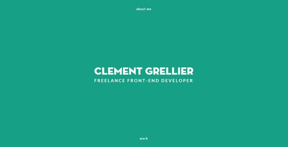 Portfolio inspiration http://clementgrellier.fr/