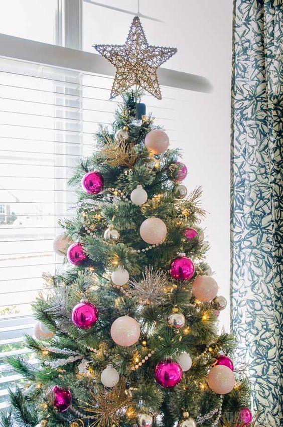 Modern Glam Christmas Tree - pink Christmas